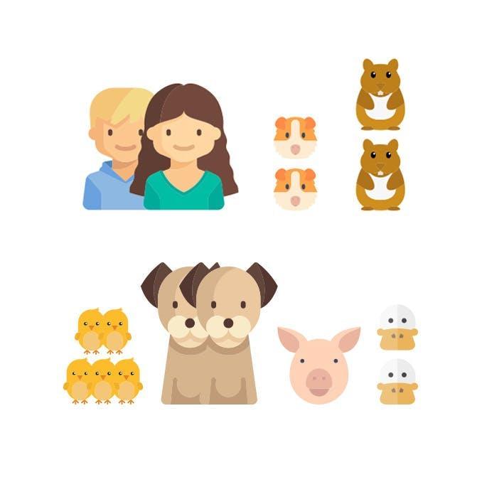 Small family, many many pets